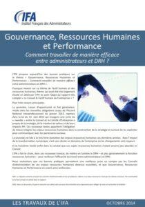 Gouvernance, Ressources Humaines et Performance
