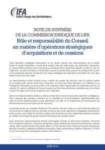 Rôle et responsabilité du Conseil en matière d'opérations stratégiques d'acquisitions et de cessions