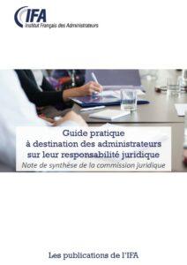 Guide pratique à destination des administrateurs sur leur responsabilité juridique 2018