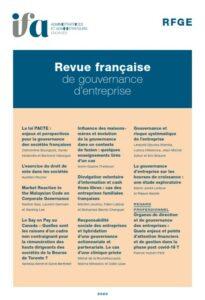 Présentation de la Revue Française de Gouvernance d'Entreprise (RFGE)