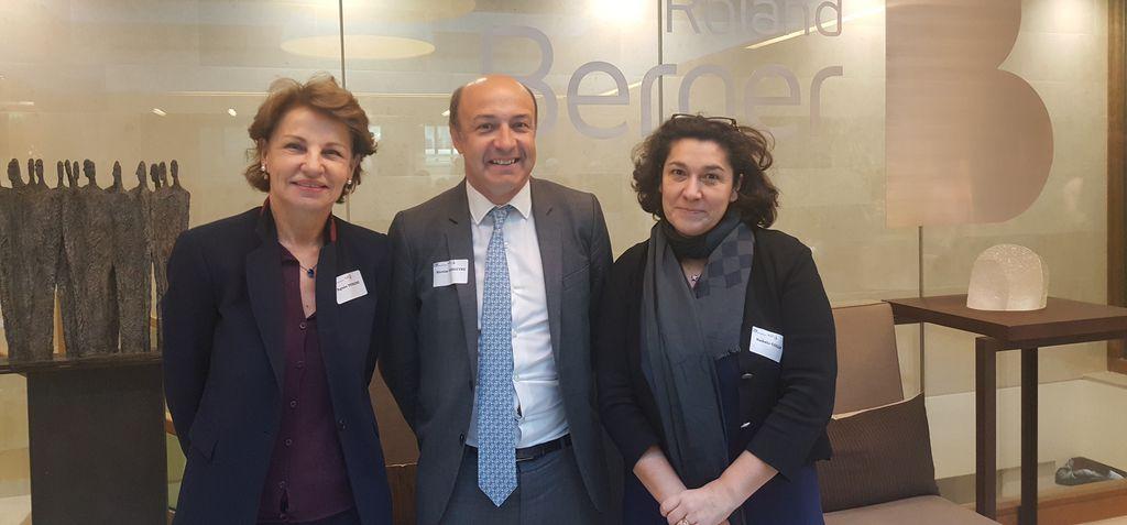 Agnès Touraine, Nicolas Teisseyre et Nathalie Collin