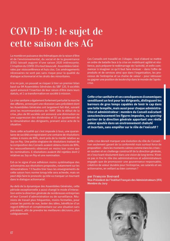 Covid-19 - le sujet de cette saison des AG Francois Bouvard 001-