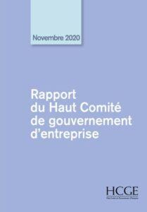 Le Haut Comité de Gouvernement d'Entreprise publie son rapport annuel 2020