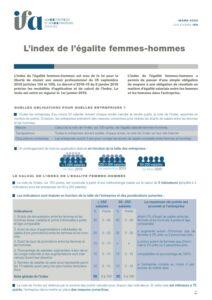 Fiche IFA de l'administrateur - L'index de l'égalité femmes-hommes