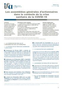 Fiche IFA - Les AG dans le contexte de crise sanitaire Covid-19