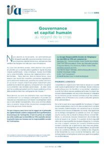 Note du Club ESG - Gouvernance et capital humain au regard de la crise