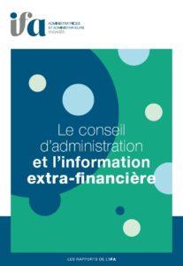 Le conseil d'administration et l'information extra-financière