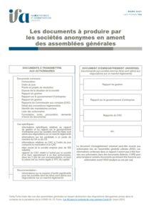 Fiche IFA - Les documents à produire en amont des AG