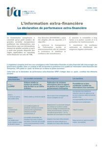 Fiche IFA - Déclaration de performance extra financière (DPEF)