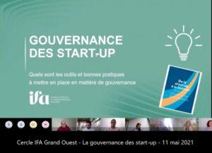 Cercle des adhérents IFA en Grand Ouest – La gouvernance des Startups