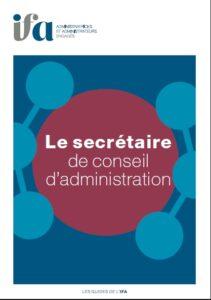 Couverture Guide le secrétaire de conseil d'administration