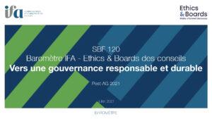 Baromètre IFA-Ethics & Boards des conseils 2021
