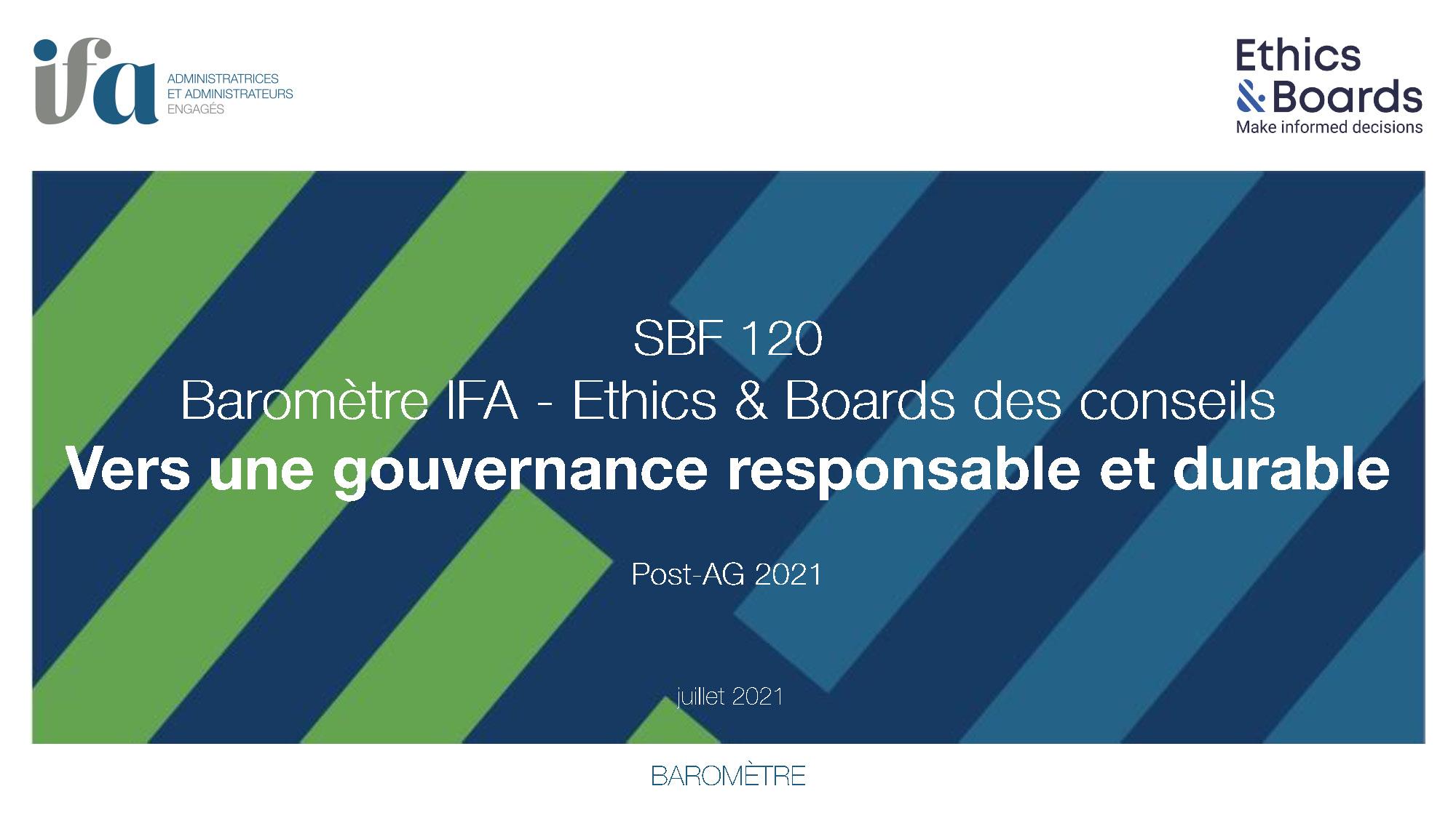 BAROMETRE IFA- ETHICS & BOARDS 2021