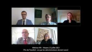 Webinar IFA - Mazars | Prix de transfert : ce que les administrateurs doivent savoir