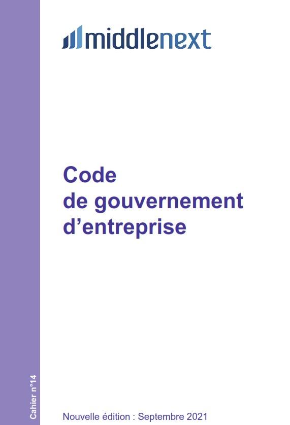 Middlenext publie son code de gouvernance révisé 2021